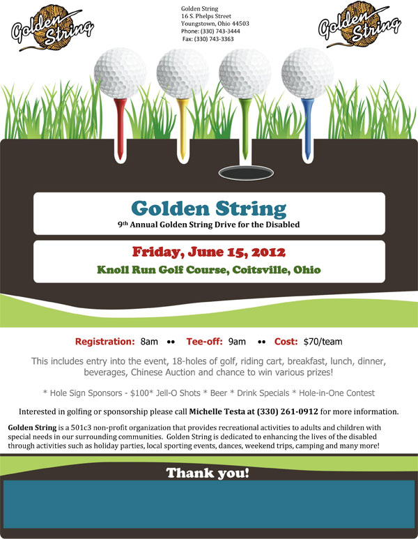 9th Annual Golden String Golf Drive for the Disabled