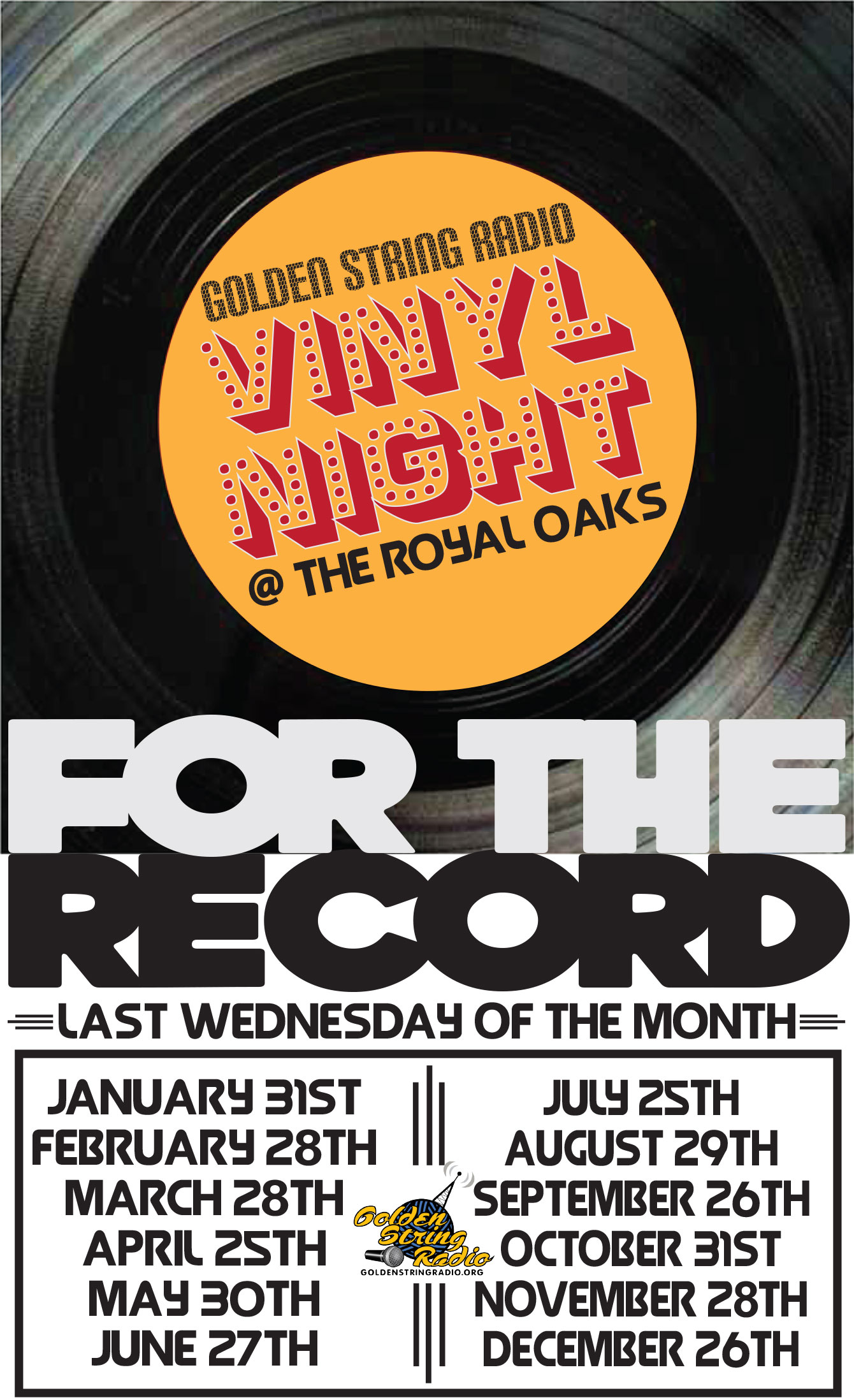 Vinyl Happy Hour at The Royal Oaks
