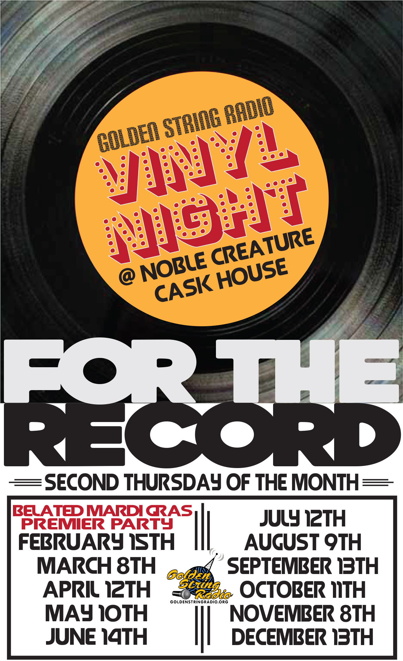 GSR Vinyl Night at Noble Creature Cask House